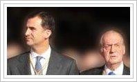 D. Juan Carlos I y el Príncipe D. Felipe de Borbón