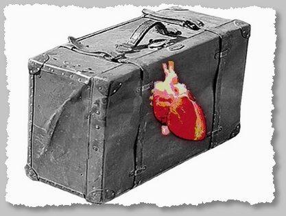 """El corazón en la maleta (en el poema """"Hago la maleta"""")"""